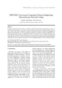 PHY-MAC Cross-Layer Cooperative Protocol Supporting Physical-Layer Network Coding - Quang Trung Hoang