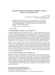 So sánh cách xưng hô trong nghi thức lời nói tiếng nga với tiếng Việt - Vũ Yến Sơn
