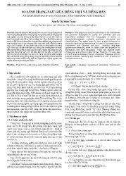 So sánh trạng ngữ giữa tiếng Việt và tiếng Hán - Nguyễn Thị Minh Trang