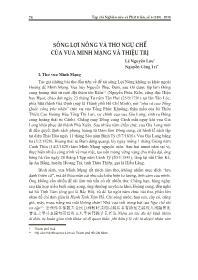 Sông lợi nông và thơ ngự chế của vua  Minh Mạng và Thiệu Trị - Lê Nguyễn Lưu