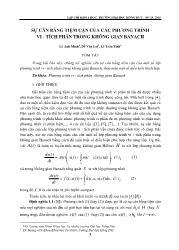 Sự cân bằng tiệm cận của các phương trình vi - Tích phân trong không gian banach - Lê Anh Minh