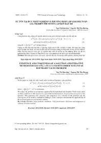 Sự tồn tại duy nhất nghiệm và phương pháp lặp giải bài toán giá trị biên phi tuyến cấp bốn đầy đủ - Ngô Thị Kim Quy
