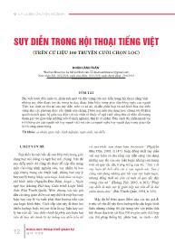 Suy diễn trong hội thoại tiếng Việt (trên cứ liệu 100 truyện cười chọn lọc) - Đoàn cảnh Tuấn