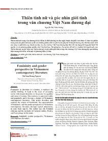 Thiên tính nữ và góc nhìn giới tính trong văn chương Việt Nam đương đại - Nguyễn Thị Năm Hoàng