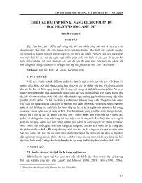 Thiết kế bài tập rèn kĩ năng dịch cụm ẩn dụ học phần văn học Anh - Mĩ - Nguyễn Thị Quyết