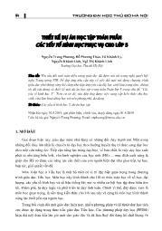 Thiết kế dự án học tập toán phần các yếu tố hình học phục vụ - Nguyễn Trung Phương