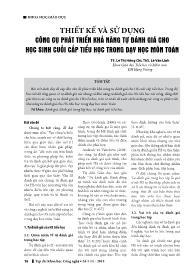 Thiết kế và sử dụng công cụ phát triển khả năng tự đánh giá cho học sinh cuối cấp tiểu học trong dạy học môn Toán - Lê Thị Hồng Chi