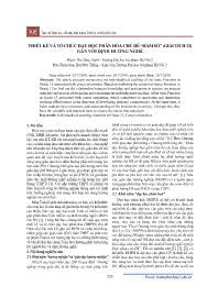 """Thiết kế và tổ chức dạy học phân hóa chủ đề """"Hàm số"""" (Giải tích 12) gắn với định hướng nghề - Phạm Thị Hồng Hạnh"""