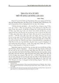 Thơ của vua Tự Đức viết về sông Lợi Nông (An Cựu) - Phan Đăng