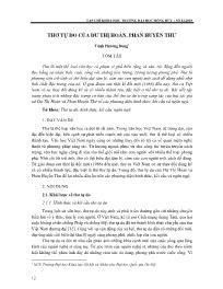 Thơ tự do của Dư Thị Hoàn, Phan Huyền Thư - Trịnh Phương Dung