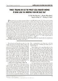 Thực trạng di cư tự phát của người mông ở Đắk Lắk và những vấn đề đặt ra - Võ Thị Mai Phương