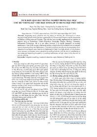 """Tích hợp giáo dục hướng nghiệp trong dạy học chủ đề """"Thống kê"""" cho học sinh Lớp 10 Trung học Phổ thông - Phạm Thị Hồng Hạnh"""