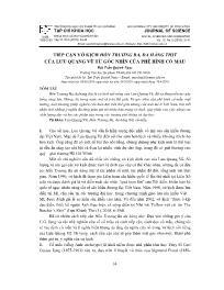 Tiếp cận vở kịch hồn Trương Ba, da hàng thịt của Lưu Quang Vũ từ góc nhìn của phê bình cổ mẫu - Bùi Trần Quỳnh Ngọc