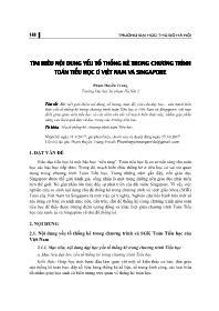 Tìm hiểu nội dung yếu tố thống kê trong chương trình Toán Tiểu học ở Việt Nam và Singapore - Phạm Huyền Trang