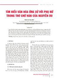Tìm hiểu văn hóa ứng xử với phụ nữ trong thơ chữ Hán của Nguyễn Du - Trần Thị Thu Hiền