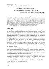 Tìm kiếm câu hỏi có ý nghĩa từ các trang Web hỏi đáp cộng đồng - Nguyễn Văn Tú