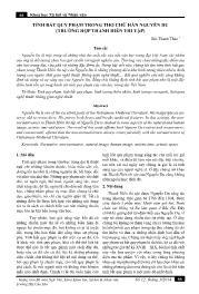Tính bất quy phạm trong thơ chữ Hán Nguyễn Du (trường hợp Thanh hiên thi tập) - Bùi Thanh Thảo