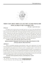 Triển vọng phát triển của tổ chức xã hội trong đời sống xã hội ở Việt Nam hiện nay - Bùi Nghĩa