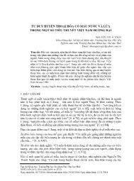 Tư duy huyền thoại hóa cổ mẫu nước và lửa trong một số tiểu thuyết Việt Nam đương đại - Nguyễn Thị Ái Thoa