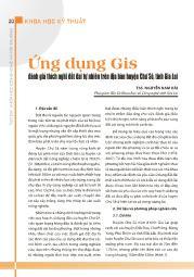 Ứng dụng Gis đánh giá thích nghi đất đai tự nhiên trên địa bàn huyện Chư Sê, tỉnh Gia Lai - Nguyễn Nam Hải