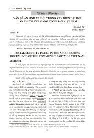 Vấn đề an sinh xã hội trong văn kiện đại hội lần thứ XI của đảng cộng sản Việt Nam - Đỗ Minh Tứ