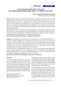 Vấn đề dự báo diễn biến lòng dẫn sông hồng khi xét đến khai thác cát trên lòng sông - Nguyễn Ngọc Quỳnh