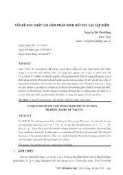 Vấn đề duy nhất của hàm phân hình đối với các cặp điểm - Nguyễn Thị Thu Hằng
