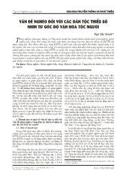 Vấn đề nghèo đối với các dân tộc thiểu số nhìn từ góc độ văn hóa tộc người - Ngô Thị Trinh