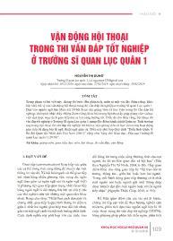 Vận động hội thoại trong thi vấn đáp tốt nghiệp ở trường Sĩ quan lục quân 1 - Nguyễn Thị Dung