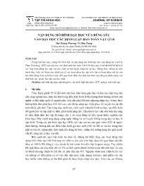 Vận dụng mô hình dạy học vừa đúng lúc vào dạy học các định luật bảo toàn Vật lí 10 - Mai Hoàng Phương