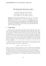 Về vành hầu Nil-Nội xạ yếu - Trương Công Quỳnh