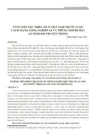 Vùng dân tộc thiểu số ở Việt Nam trước cuộc cách mạng công nghiệp 4.0 và những mối đe dọa an ninh phi truyền thống - Phạm Nguyễn Ngọc Anh