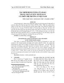 Xác định hàm lượng của Kali trong một số mẫu muối kali có trên thị trường ở Việt Nam - Trần Thiện Thanh