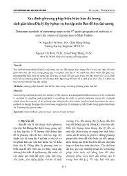 Xác định phương pháp biểu hiện bản đồ trong sách giáo khoa Địa lí Lớp 9 phục vụ học tập môn Bản đồ học đại cương - Nguyễn Thị Bình