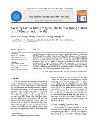Xây dựng hàm số đường cong mẫu cho bể than Quảng Ninh từ các số liệu quan trắc thực địa - Phạm Văn Chung