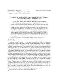 Xây dựng hệ thống bài tập Vật lí nhằm hỗ trợ việc dạy học theo định hướng phát triển năng lực - Nguyễn Đằng Thuấn